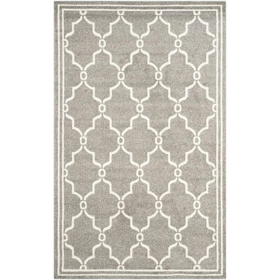 Safavieh Amherst Marion Dark Gray/Beige Rectangular Indoor/Outdoor Machine-Made Moroccan Area Rug (Common: 6 x 9; Actual: 6-ft W x 9-ft L)