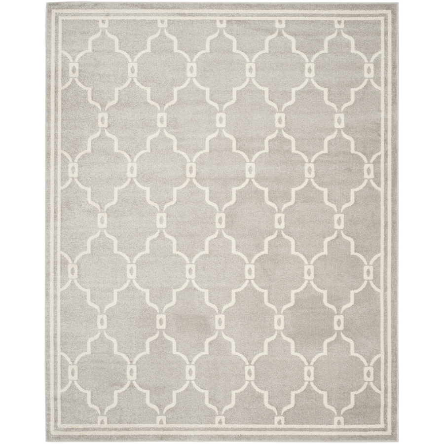 Safavieh Amherst Grey/Ivory Rectangular Indoor/Outdoor Machine-Made Area Rug
