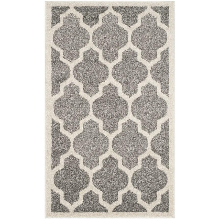 Safavieh Amherst Barret Dark Gray/Beige Indoor/Outdoor Moroccan Throw Rug (Common: 2 x 4; Actual: 2.5-ft W x 4-ft L)