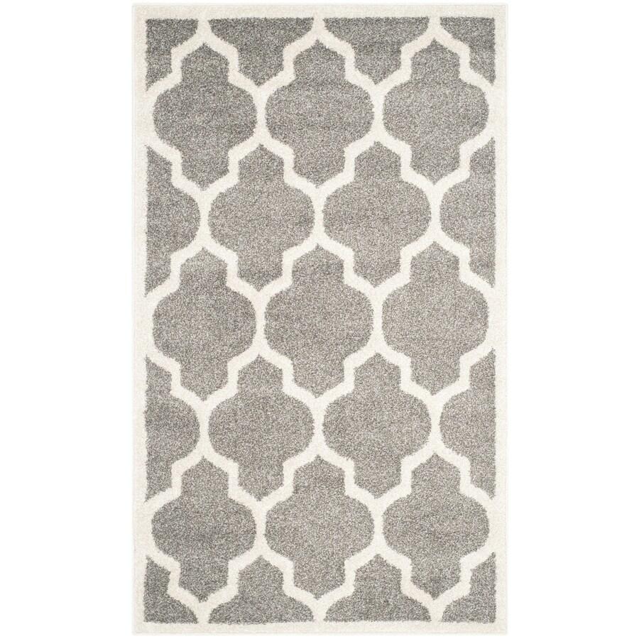 Safavieh Amherst Barret Dark Gray/Beige Indoor/Outdoor Moroccan Throw Rug (Common: 3 x 5; Actual: 3-ft W x 5-ft L)