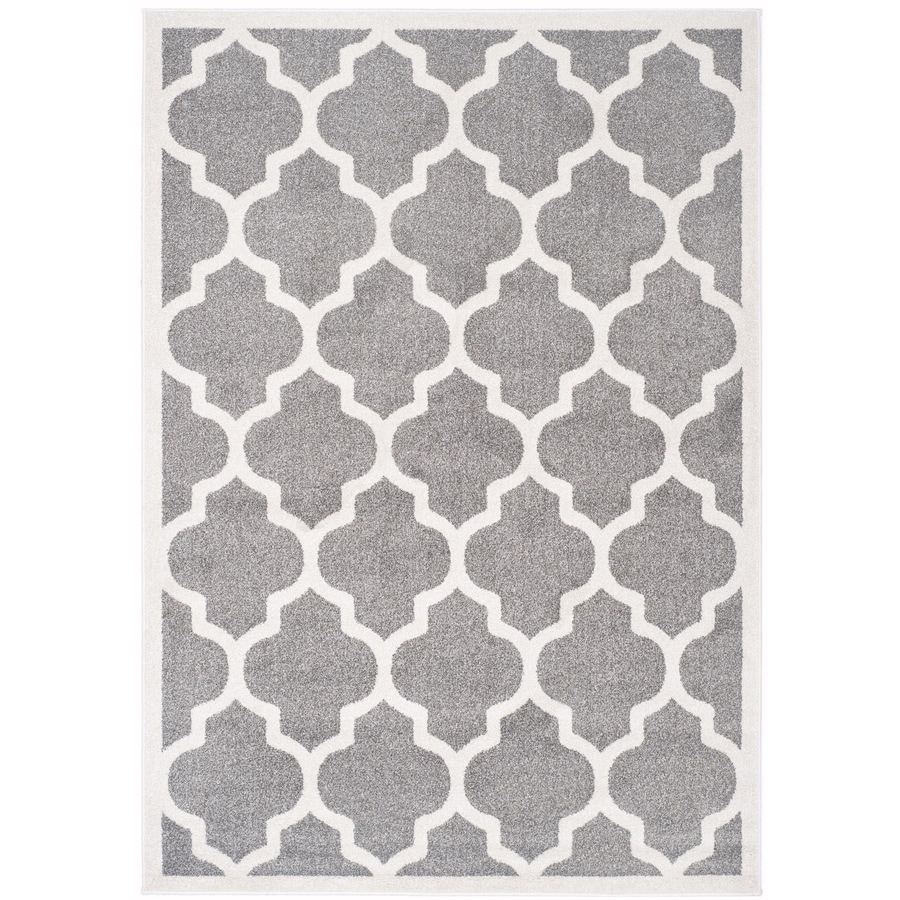 Safavieh Amherst Dark Grey/Beige Rectangular Indoor/Outdoor Machine-Made Area Rug