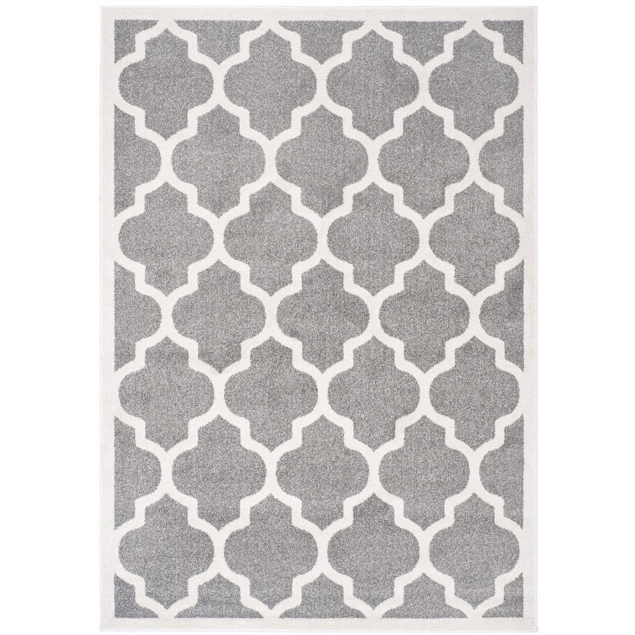 Safavieh Amherst Barret Dark Gray/Beige Indoor/Outdoor Moroccan Area Rug (Common: 6 x 9; Actual: 6-ft W x 9-ft L)