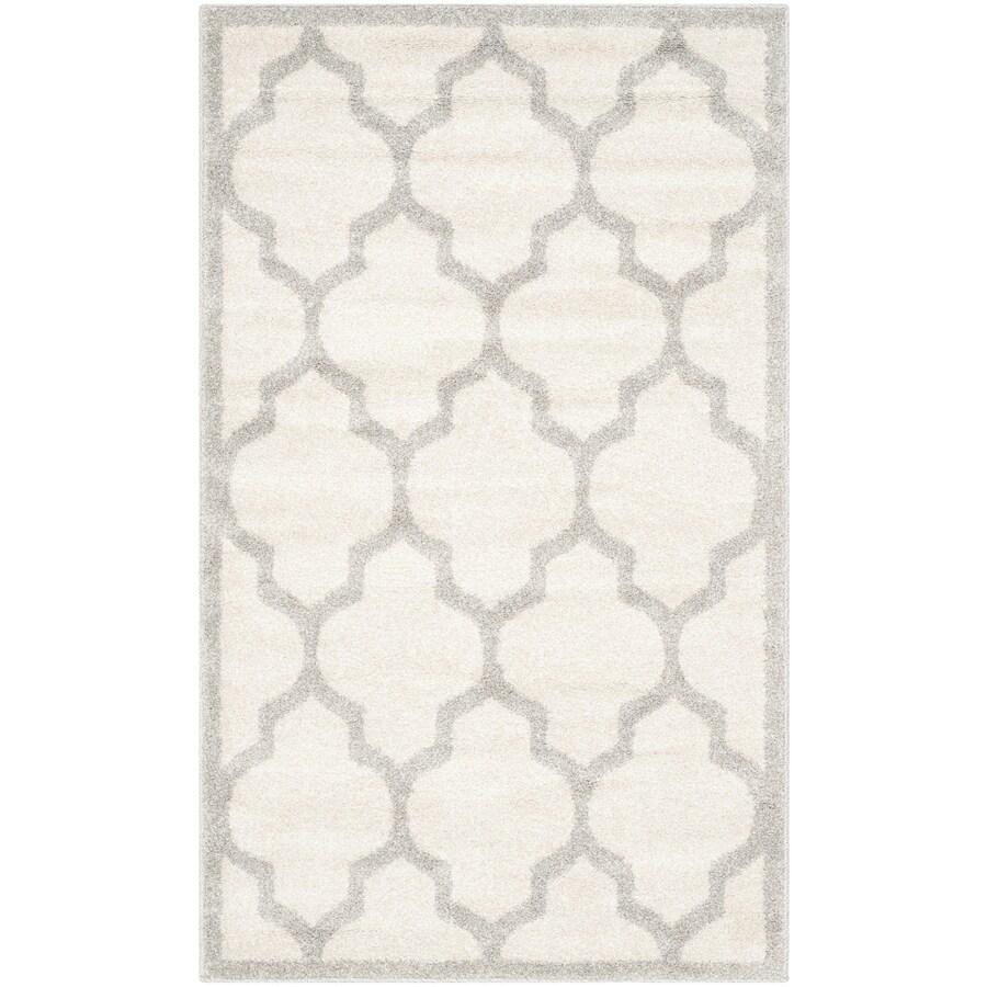 Safavieh Amherst Barret Beige/Light Gray Indoor/Outdoor Moroccan Throw Rug (Common: 3 x 5; Actual: 3-ft W x 5-ft L)