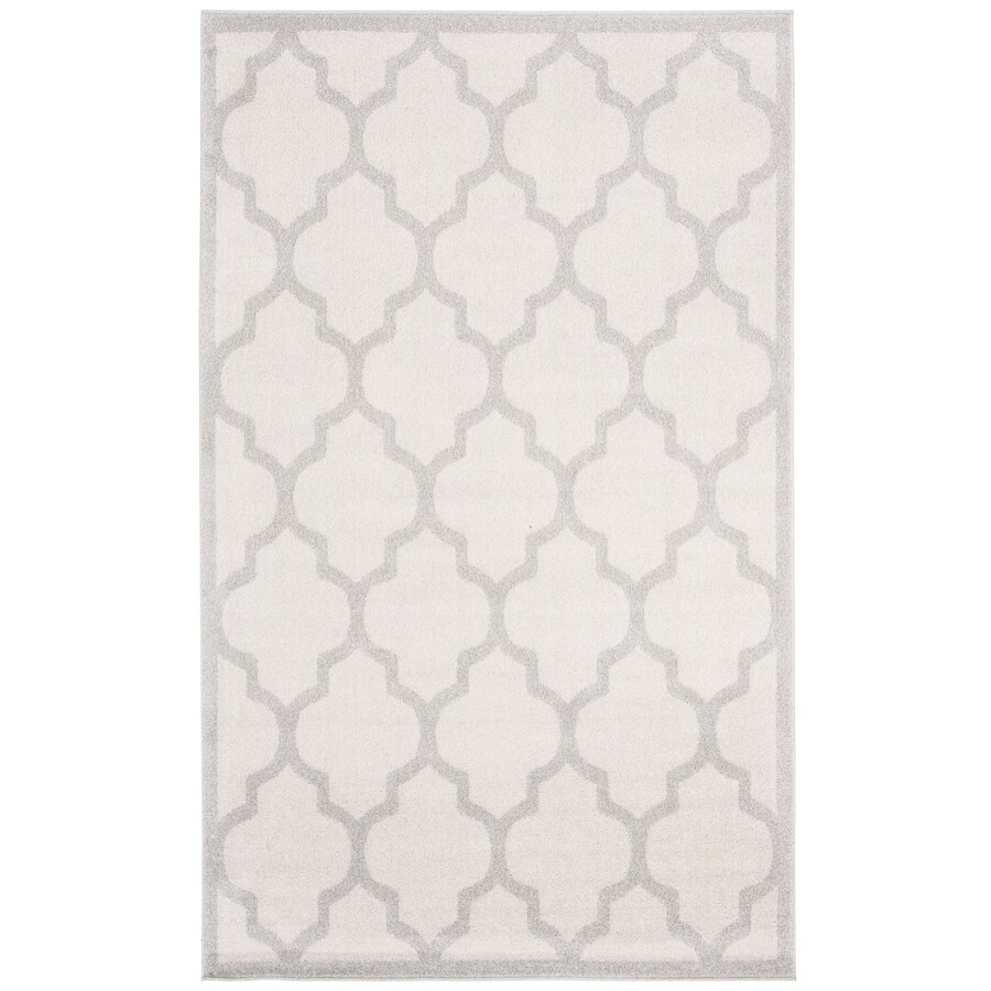 Safavieh Amherst Barret Beige/Light Gray Indoor/Outdoor Moroccan Area Rug (Common: 4 x 6; Actual: 4-ft W x 6-ft L)