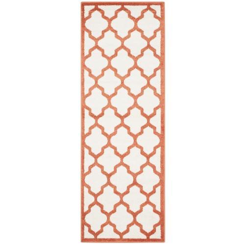 Safavieh Amherst Barret 2 X 7 Beige/Orange Indoor/Outdoor
