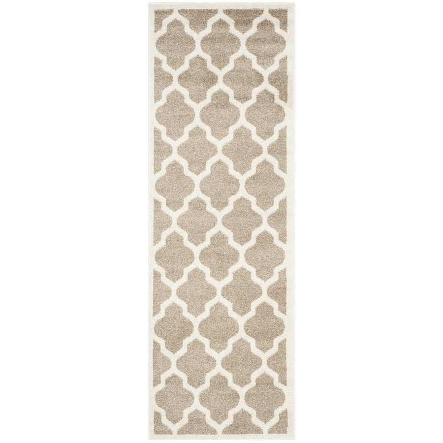 Safavieh Amherst Barret Wheat/Beige Indoor/Outdoor Moroccan Runner (Common: 2 x 9; Actual: 2.3-ft W x 9-ft L)