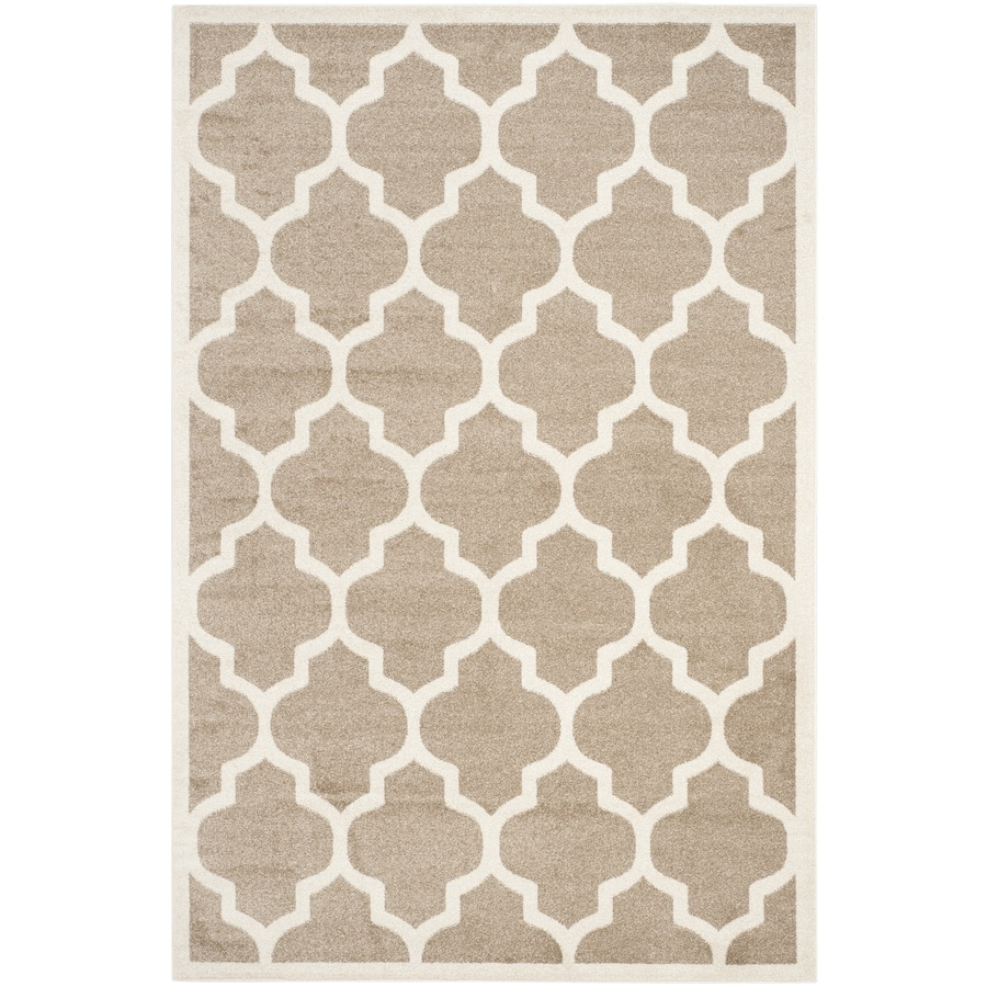 Safavieh Amherst Wheat Rectangular Indoor/Outdoor Machine-Made Moroccan Area Rug (Common: 5 x 8; Actual: 5-ft W x 8-ft L)