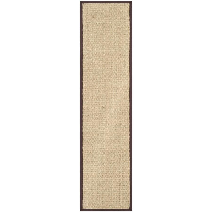 Safavieh Natural Fiber Hampton Natural/Brown Rectangular Indoor Machine-made Coastal Runner (Common: 2 x 20; Actual: 2.5-ft W x 20-ft L)