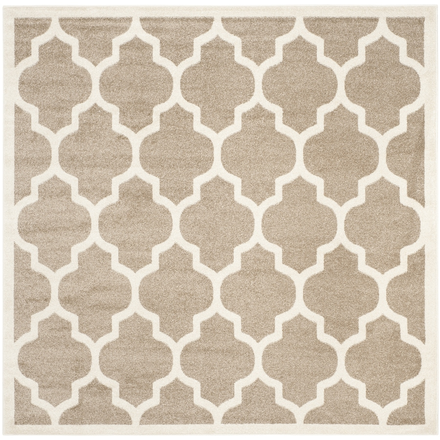 Safavieh Amherst Wheat Square Indoor/Outdoor Machine-Made Area Rug