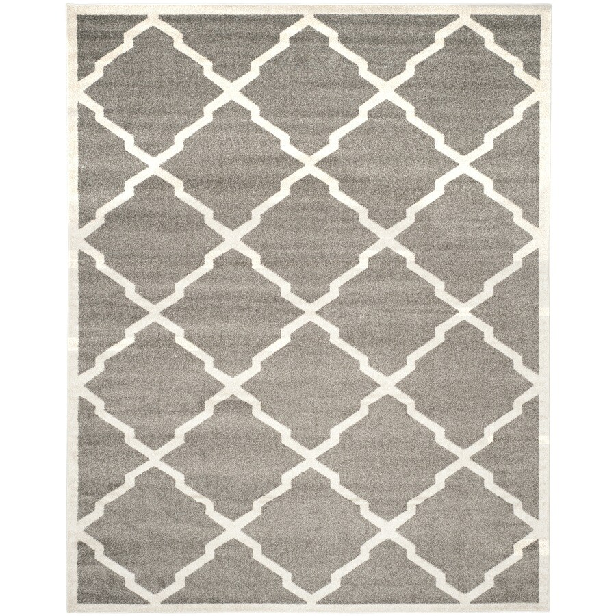 Safavieh Amherst Lowell Dark Gray/Beige Rectangular Indoor/Outdoor Machine-Made Moroccan Area Rug (Common: 10 x 14; Actual: 10-ft W x 14-ft L)