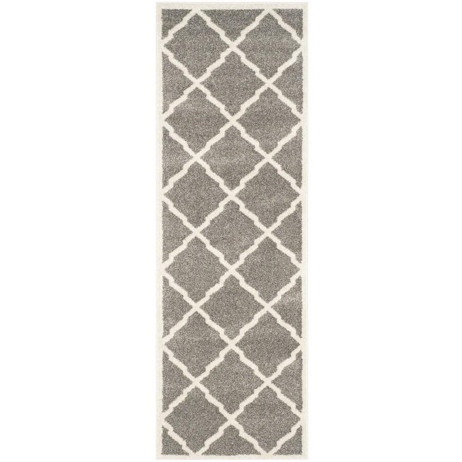 Safavieh Amherst Lowell Dark Gray/Beige Rectangular Indoor/Outdoor Machine-made Moroccan Runner (Common: 2 x 11; Actual: 2.25-ft W x 11-ft L)