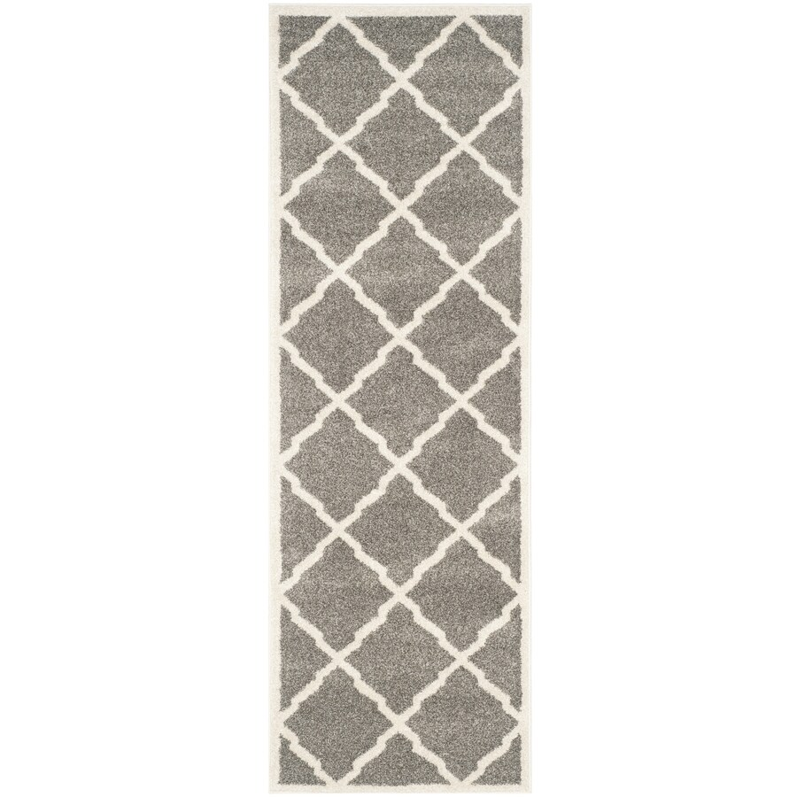 Safavieh Amherst Lowell Dark Gray/Beige Indoor/Outdoor Moroccan Runner (Common: 2 x 7; Actual: 2.3-ft W x 7-ft L)