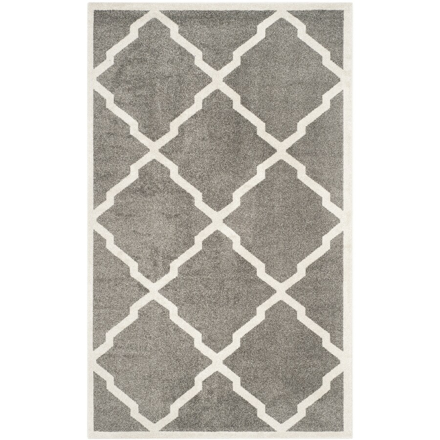 Safavieh Amherst Lowell Dark Gray/Beige Indoor/Outdoor Moroccan Area Rug (Common: 4 x 6; Actual: 4-ft W x 6-ft L)