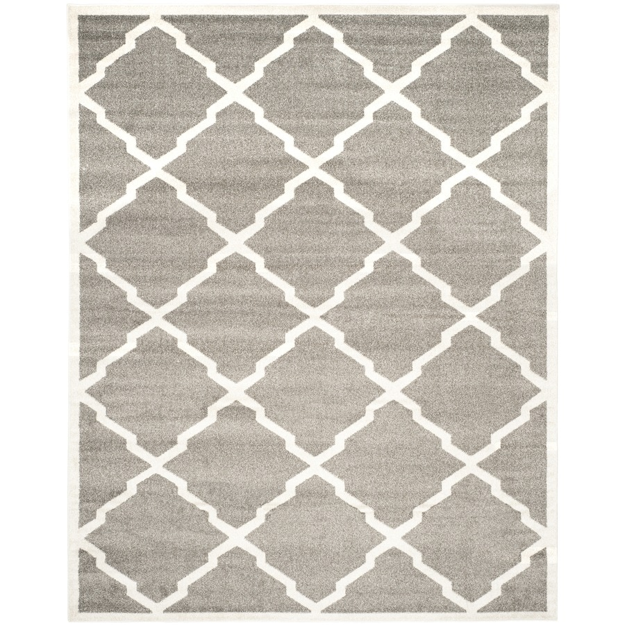 Safavieh Amherst Lowell Dark Gray/Beige Rectangular Indoor/Outdoor Machine-Made Moroccan Area Rug (Common: 6 x 9; Actual: 6-ft W x 9-ft L)
