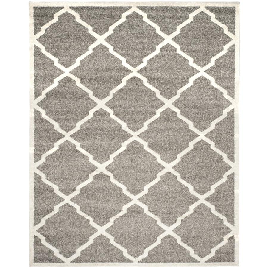 Safavieh Amherst Dark Gray/Beige Rectangular Indoor/Outdoor Machine-Made Moroccan Area Rug (Common: 8 x 10; Actual: 8-ft W x 10-ft L)