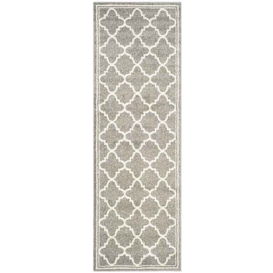 Safavieh Amherst Kelly Dark Gray/Beige Indoor/Outdoor Moroccan Runner (Common: 2 x 11; Actual: 2.3-ft W x 11-ft L)