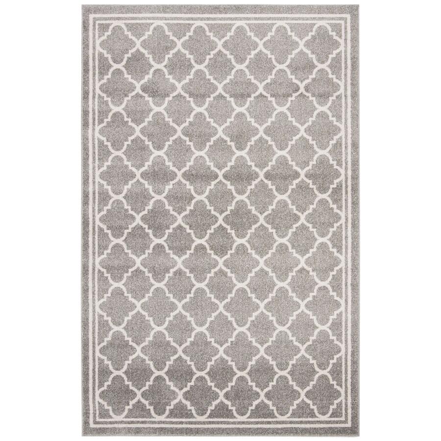 Safavieh Amherst Kelly Dark Gray/Beige Indoor/Outdoor Moroccan Area Rug (Common: 5 x 8; Actual: 5-ft W x 8-ft L)