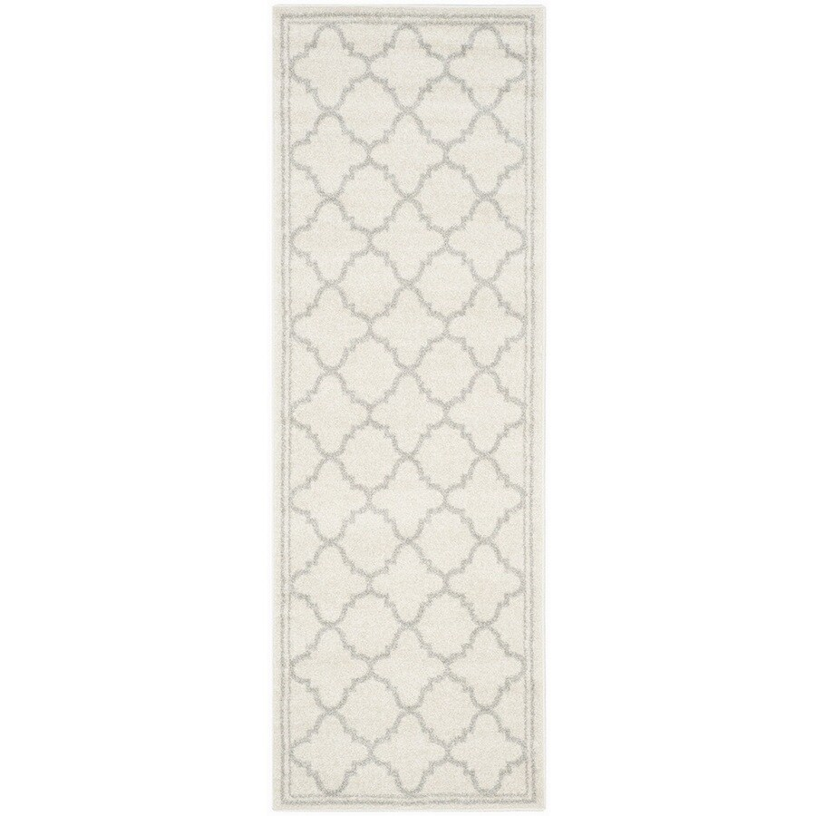 Safavieh Amherst Kelly Beige/Light Gray Rectangular Indoor/Outdoor Machine-Made Moroccan Runner (Common: 2 x 7; Actual: 2.25-ft W x 7-ft L)