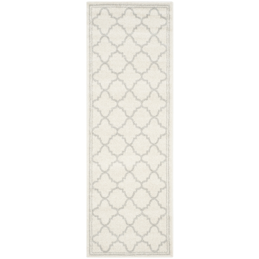 Safavieh Amherst Kelly Beige/Light Gray Rectangular Indoor/Outdoor Machine-Made Moroccan Runner (Common: 2 x 9; Actual: 2.25-ft W x 9-ft L)