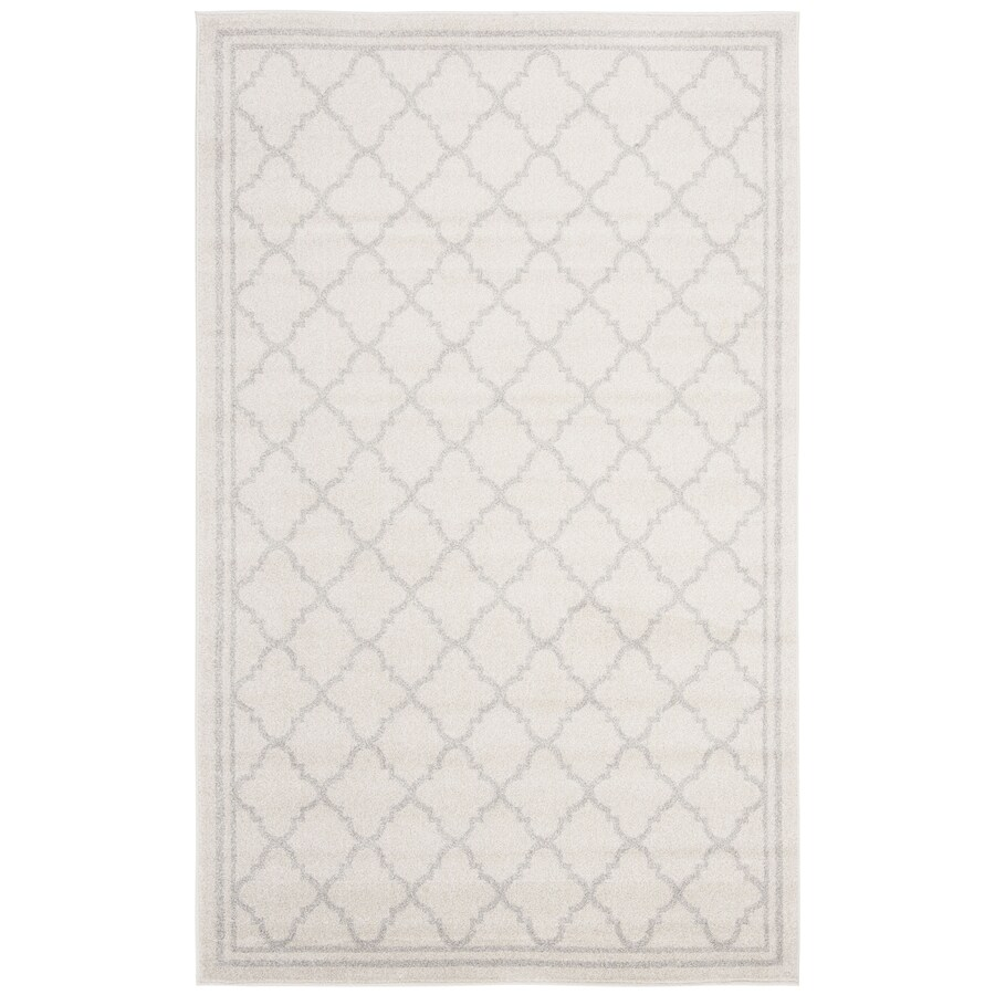 Safavieh Amherst Kelly Beige/Light Gray Rectangular Indoor/Outdoor Machine-made Moroccan Area Rug (Common: 4 x 6; Actual: 4-ft W x 6-ft L)