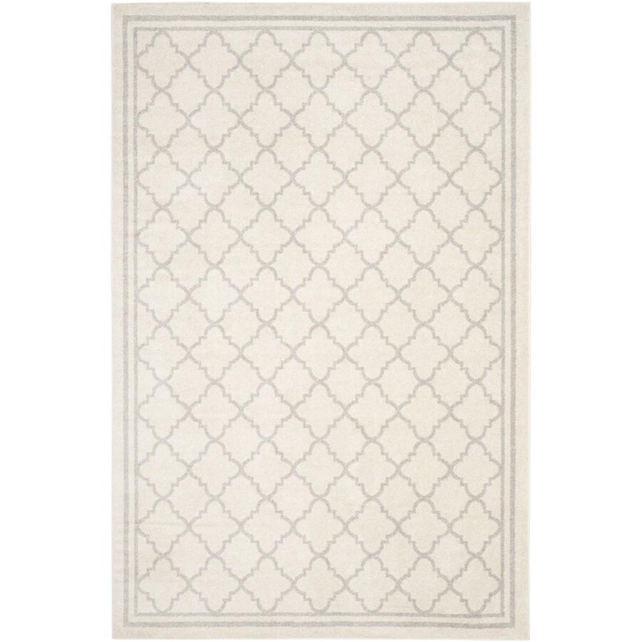 Safavieh Amherst Kelly Beige/Light Gray Rectangular Indoor/Outdoor Machine-made Moroccan Area Rug (Common: 5 x 8; Actual: 5-ft W x 8-ft L)