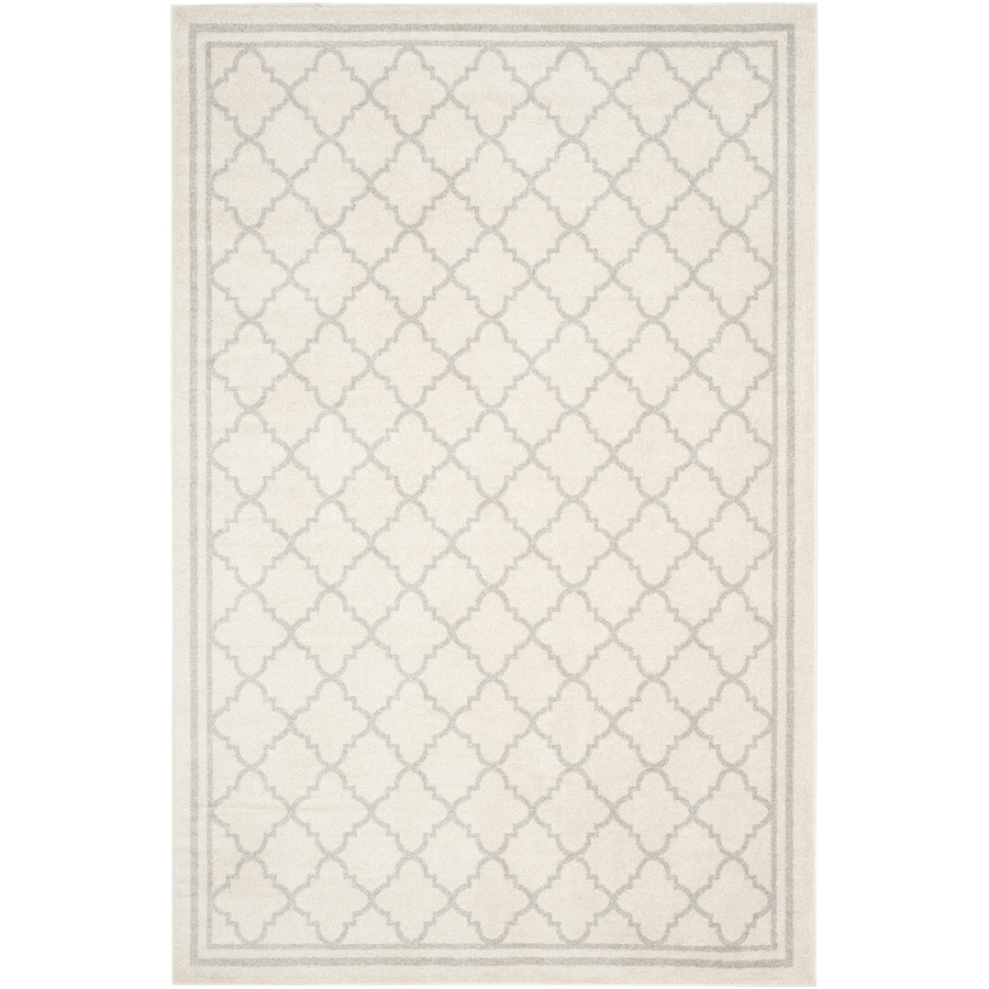 Safavieh Amherst Kelly Beige/Light Gray Rectangular Indoor/Outdoor Machine-Made Moroccan Area Rug (Common: 6 x 9; Actual: 6-ft W x 9-ft L)