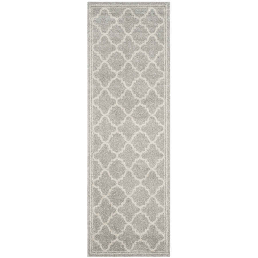 Safavieh Amherst Gray/Beige Rectangular Indoor/Outdoor Machine-Made Moroccan Runner (Common: 2X7; Actual: 2.25-ft W x 7-ft L x 0-ft Dia)
