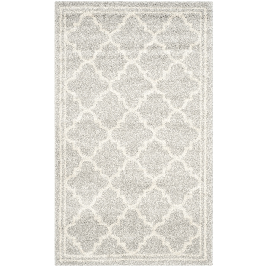 Safavieh Amherst Kelly Gray/Beige Rectangular Indoor/Outdoor Machine-made Moroccan Throw Rug (Common: 3 x 5; Actual: 3-ft W x 5-ft L)