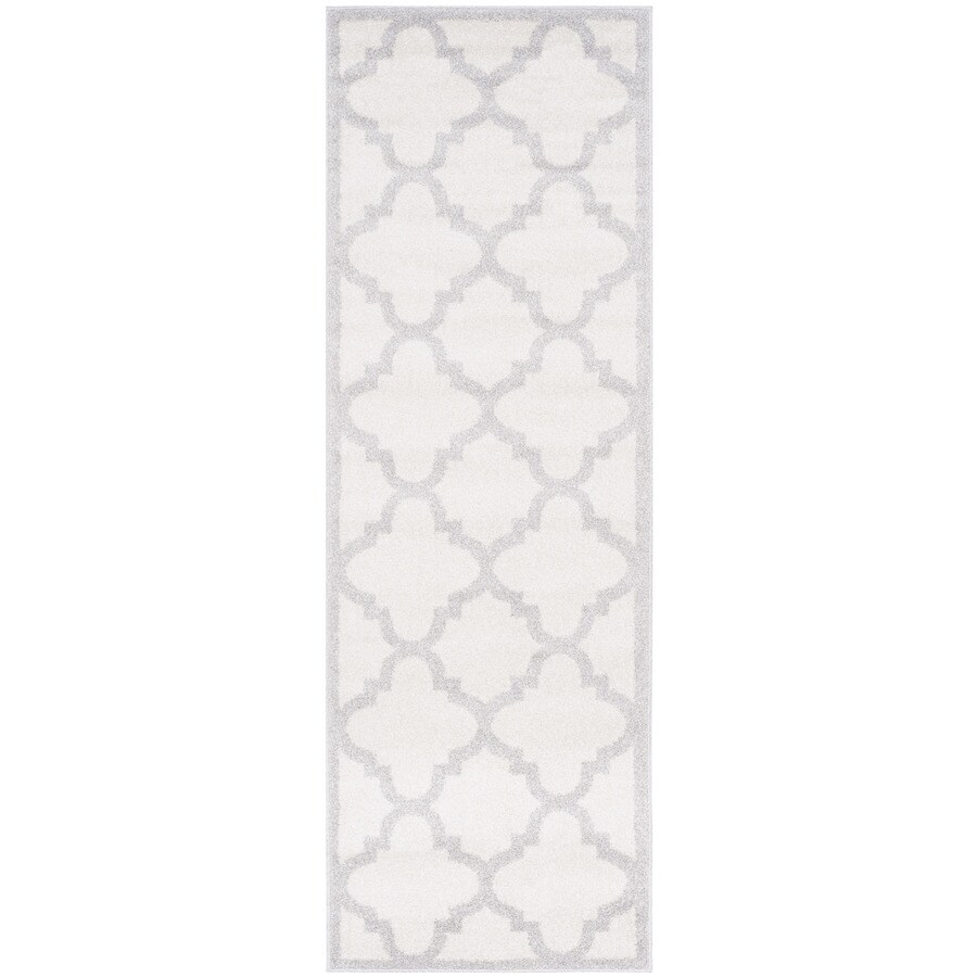 Safavieh Amherst Pompey Beige/Light Gray Rectangular Indoor/Outdoor Machine-Made Moroccan Runner (Common: 2 x 11; Actual: 2.25-ft W x 11-ft L)