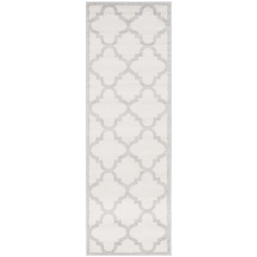 Safavieh Amherst Beige/Light Gray Rectangular Indoor/Outdoor Machine-Made Moroccan Runner (Common: 2 x 9; Actual: 2.25-ft W x 9-ft L)