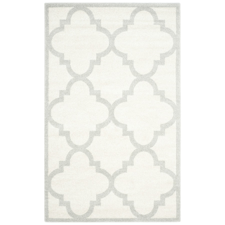 Safavieh Amherst Beige/Light Gray Rectangular Indoor/Outdoor Machine-Made Moroccan Area Rug (Common: 4 x 6; Actual: 4-ft W x 6-ft L)