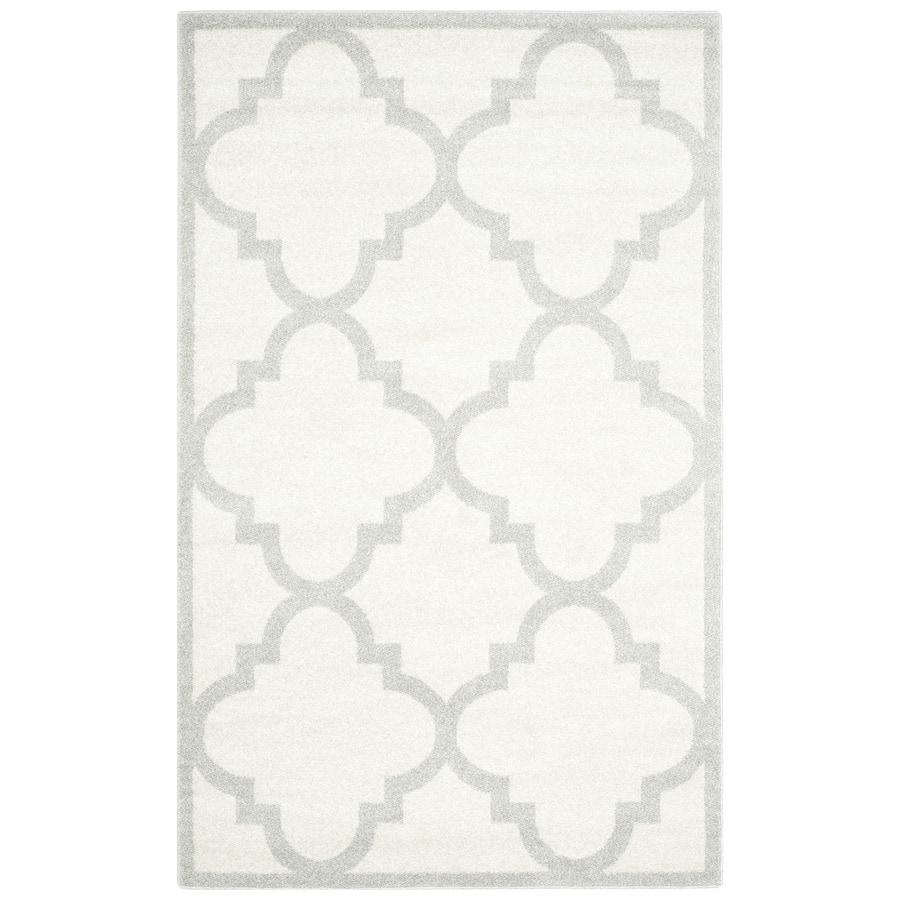 Safavieh Amherst Pompey Beige/Light Gray Rectangular Indoor/Outdoor Machine-made Moroccan Area Rug (Common: 4 x 6; Actual: 4-ft W x 6-ft L)