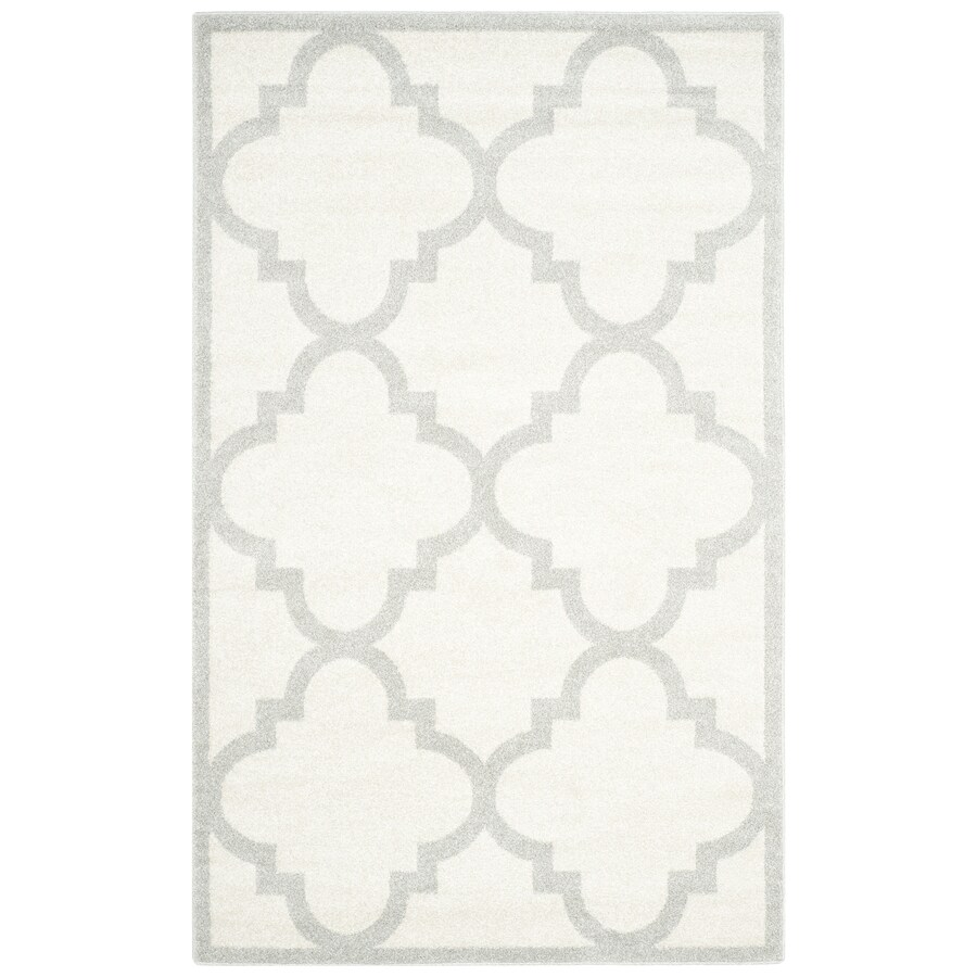 Safavieh Amherst Pompey Beige/Light Gray Indoor/Outdoor Moroccan Area Rug (Common: 5 x 8; Actual: 5-ft W x 8-ft L)
