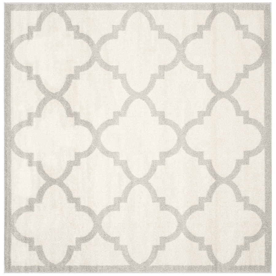Safavieh Amherst Pompey Beige/Light Gray Square Indoor/Outdoor Moroccan Area Rug (Common: 7 x 7; Actual: 6.6-ft W x 6.6-ft L)