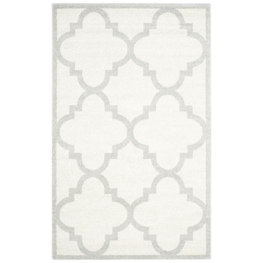 Safavieh Amherst Pompey Beige/Light Gray Indoor/Outdoor Moroccan Area Rug (Common: 8 x 10; Actual: 8-ft W x 10-ft L)