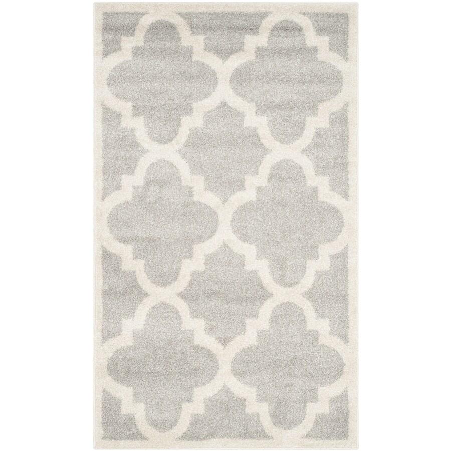 Safavieh Amherst Pompey Gray/Beige Indoor/Outdoor Moroccan Throw Rug (Common: 3 x 5; Actual: 3-ft W x 5-ft L)