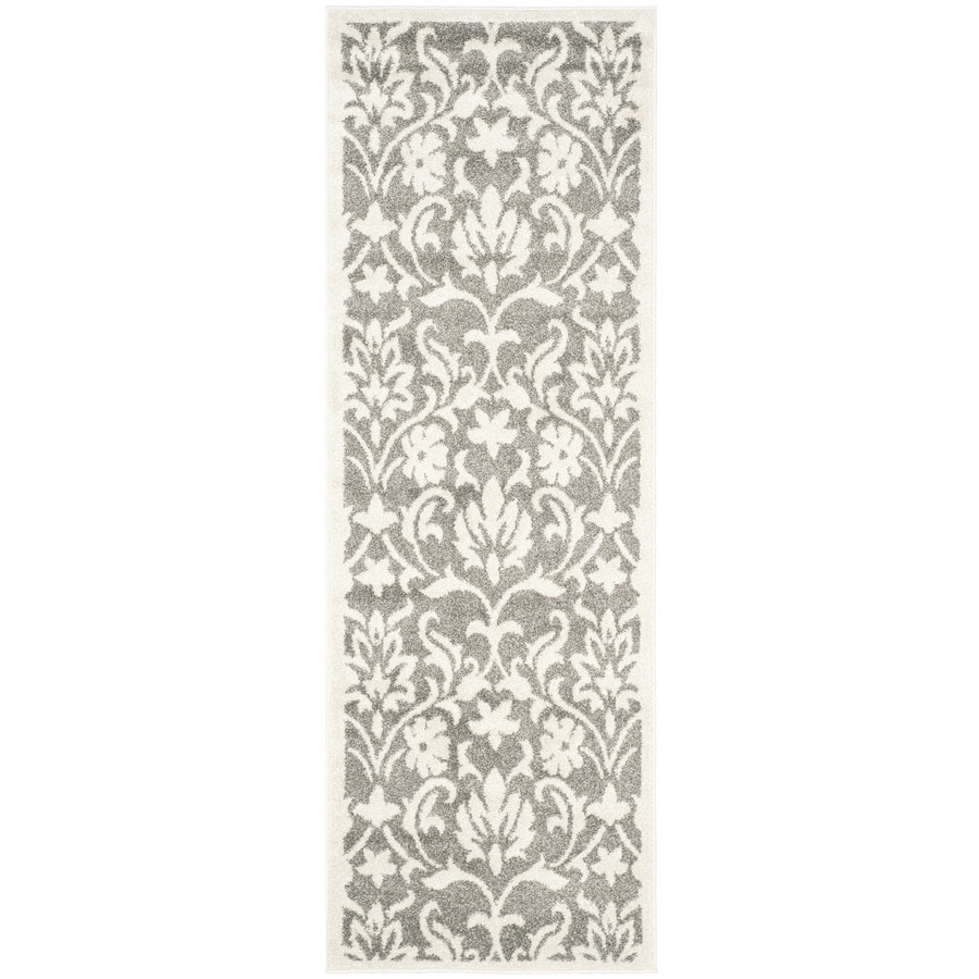 Safavieh Amherst Dark Gray/Beige Rectangular Indoor/Outdoor Machine-Made Moroccan Runner (Common: 2 x 9; Actual: 2.25-ft W x 9-ft L)