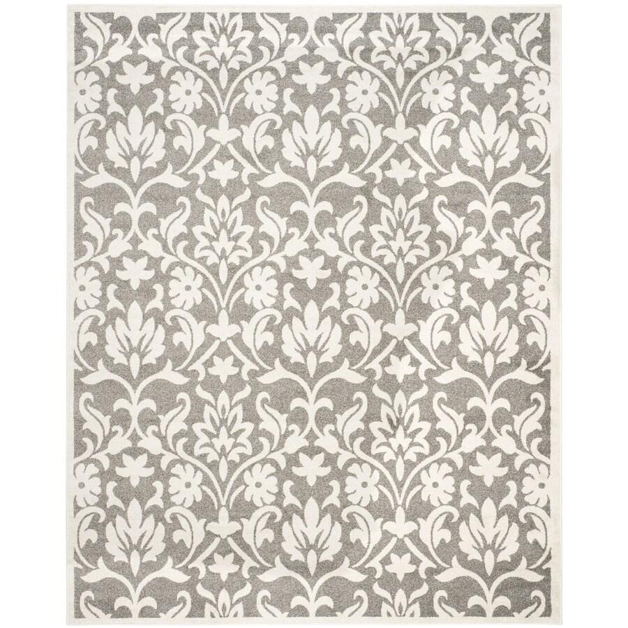 Safavieh Amherst Bouquet Dark Gray/Beige Indoor/Outdoor Moroccan Area Rug (Common: 8 x 10; Actual: 8-ft W x 10-ft L)