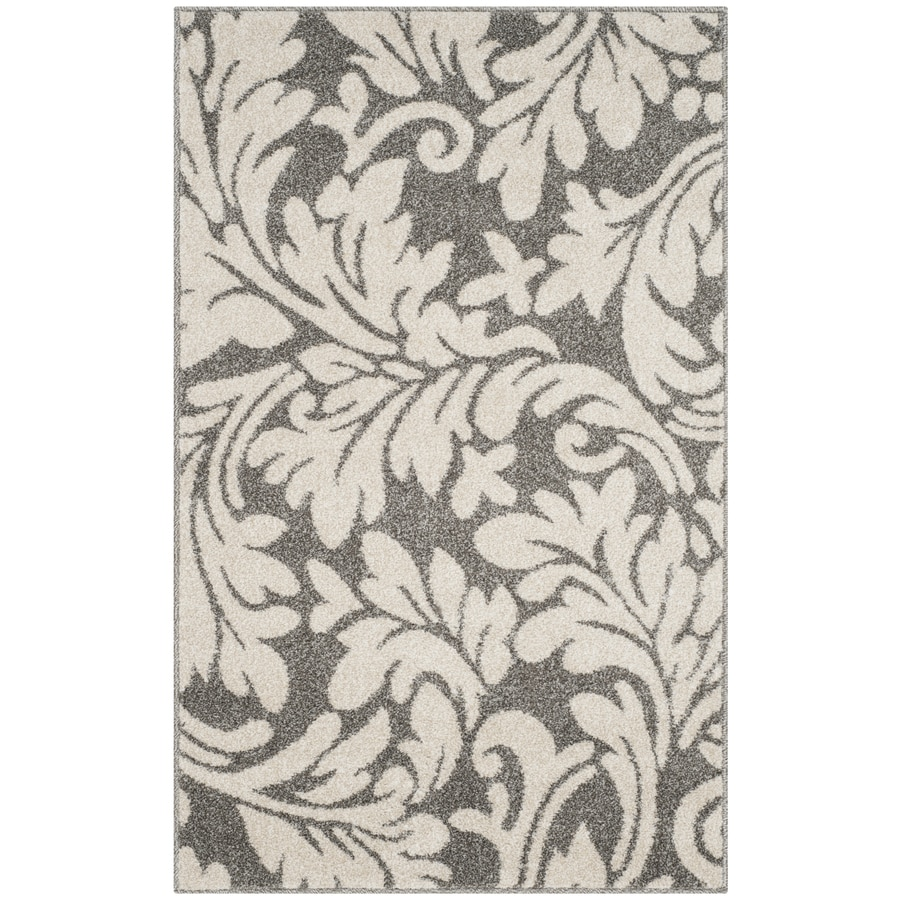 Safavieh Amherst Dark Grey/Beige Rectangular Indoor/Outdoor Machine-Made Throw Rug