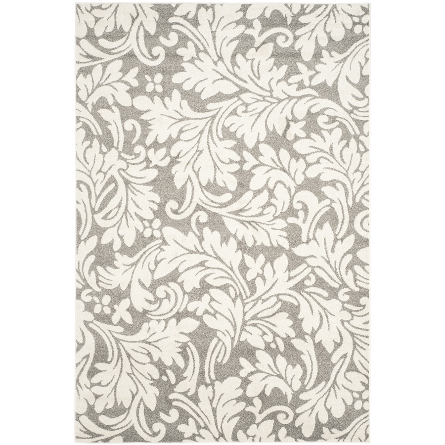 Safavieh Amherst Clara Dark Gray/Beige Rectangular Indoor/Outdoor  Moroccan Area Rug (Common: 6 x 9; Actual: 6-ft W x 9-ft L)