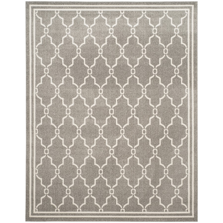 Safavieh Amherst Marion Dark Gray/Beige Rectangular Indoor/Outdoor Machine-made Moroccan Area Rug (Common: 9 x 12; Actual: 9-ft W x 12-ft L)