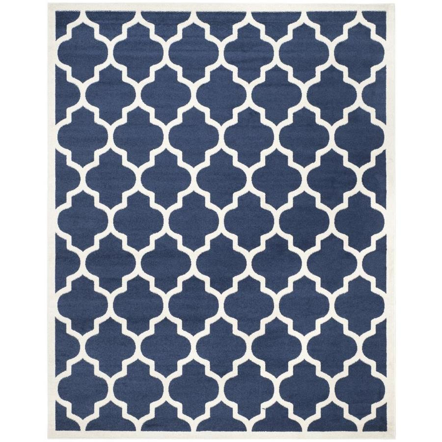 Safavieh Barret Navy Beige Indoor Outdoor Area Rug Common 9 X 12