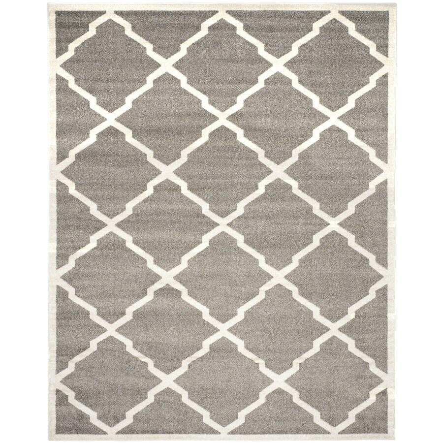Safavieh Amherst Dark Gray/Beige Rectangular Indoor/Outdoor Machine-Made Moroccan Area Rug (Common: 9 x 12; Actual: 9-ft W x 12-ft L)