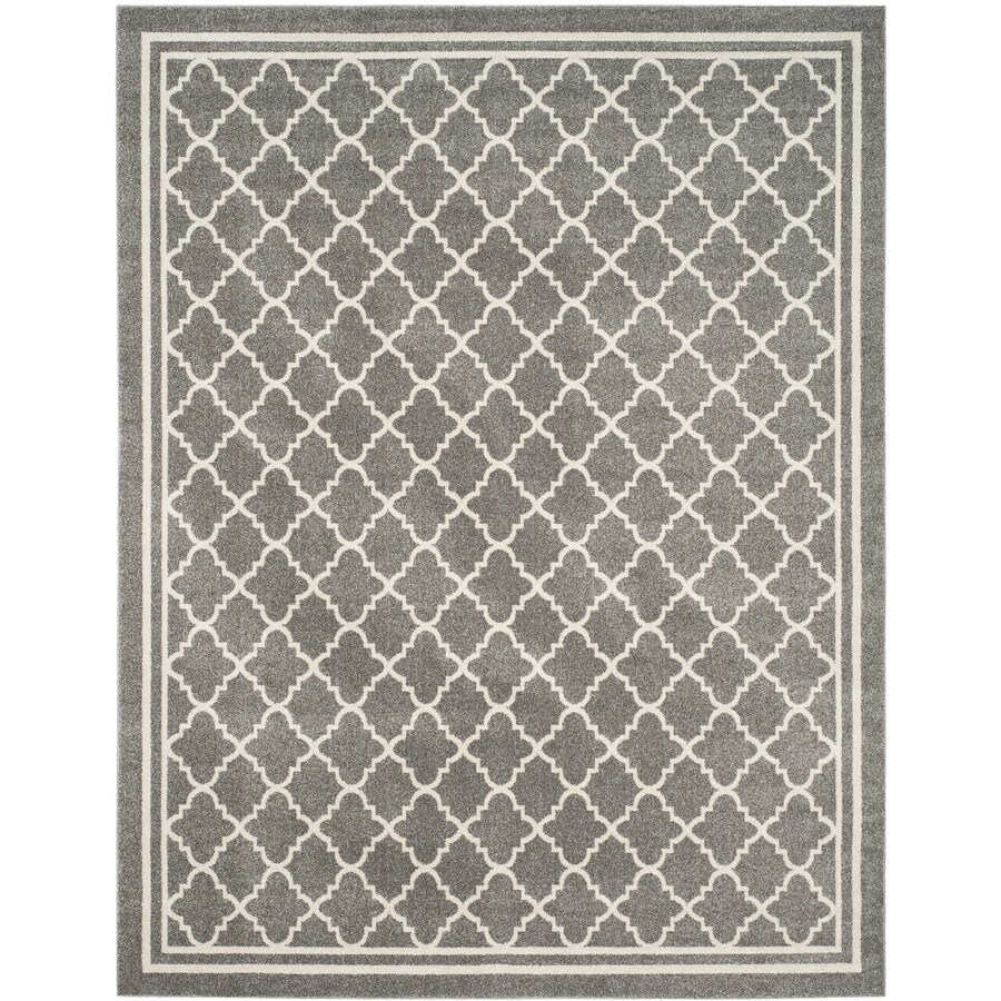 Safavieh Amherst Kelly Dark Gray/Beige Indoor/Outdoor Moroccan Area Rug (Common: 9 x 12; Actual: 9-ft W x 12-ft L)