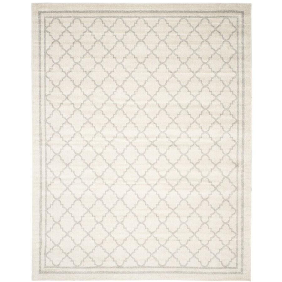 Safavieh Amherst Kelly Beige/Light Gray Rectangular Indoor/Outdoor Machine-made Moroccan Area Rug (Common: 9 x 12; Actual: 9-ft W x 12-ft L)