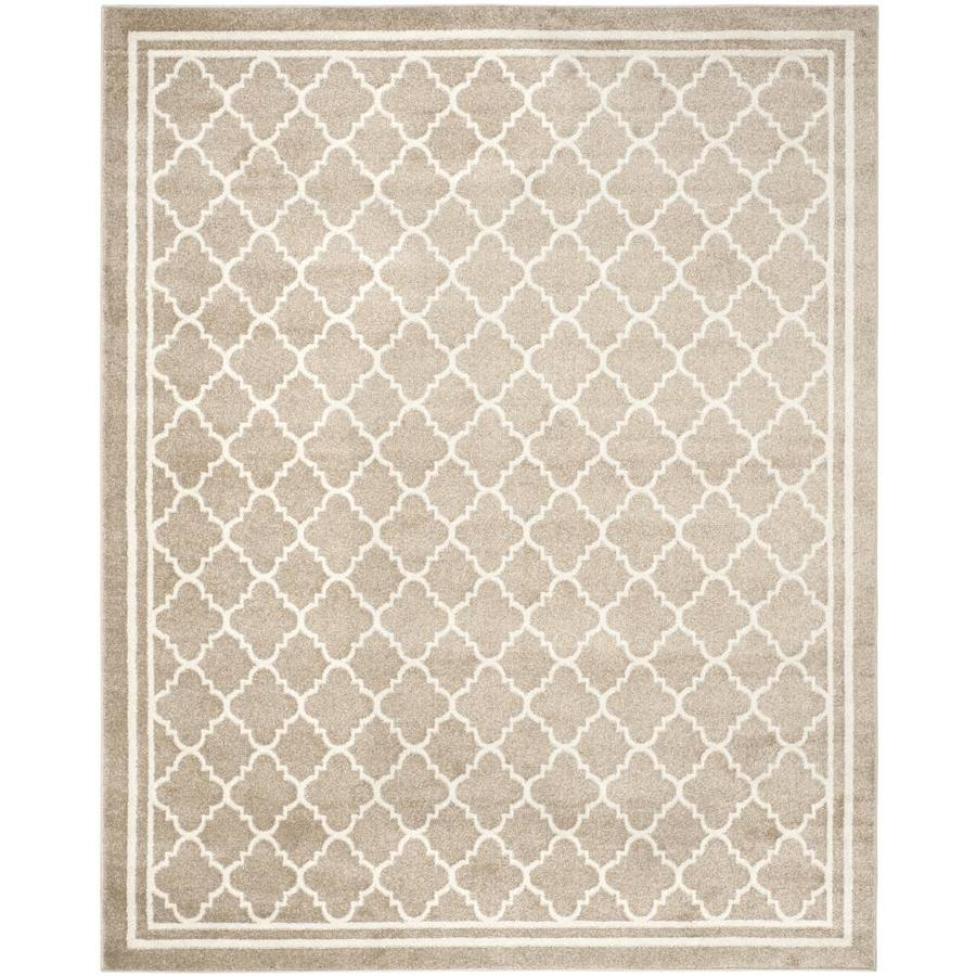 Shop Safavieh Kelly Wheat Beige Indoor Outdoor Area Rug Common 9 X