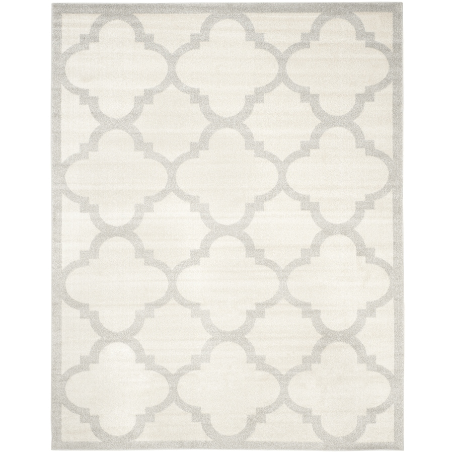 Safavieh Amherst Beige/Light Gray Rectangular Indoor/Outdoor Machine-Made Moroccan Area Rug (Common: 9 x 12; Actual: 9-ft W x 12-ft L)