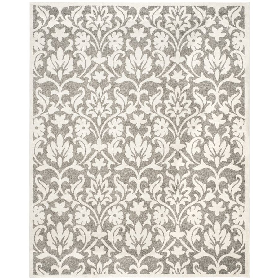 Safavieh Amherst Bouquet Dark Gray/Beige Rectangular Indoor/Outdoor Machine-Made Moroccan Area Rug (Common: 9 x 12; Actual: 9-ft W x 12-ft L)