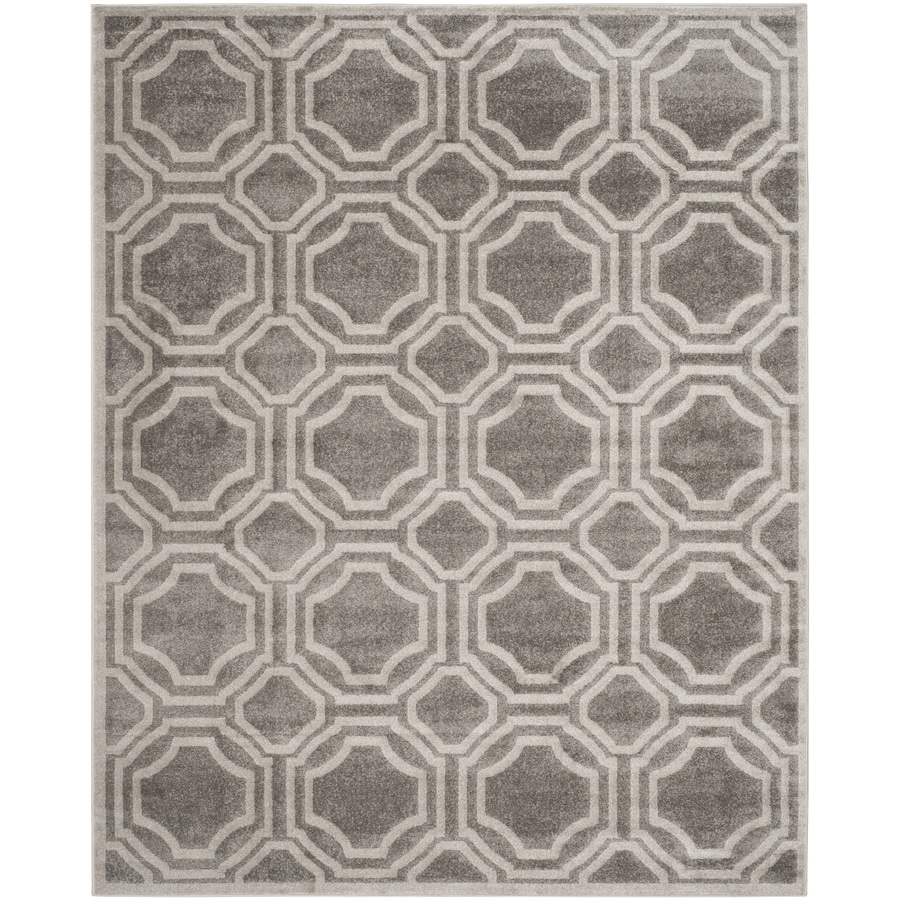 Safavieh Amherst Mosaic Gray/Light Gray Rectangular Indoor/Outdoor Machine-Made Moroccan Area Rug (Common: 10 x 14; Actual: 10-ft W x 14-ft L)