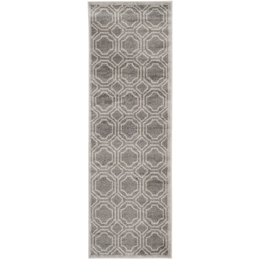 Safavieh Amherst Grey Rectangular Indoor/Outdoor Machine-Made Runner
